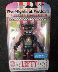 🔥🧸🔥Five Nights at Freddy's Lefty Walmart excl Funko rare action figure FNAF $95.00