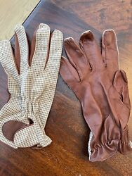 Martin Dingman Driving Gloves Leather XL Handmade $65.00
