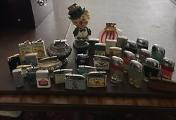 LOT OF 35 ANTIQUE TABLE LIGHTERS RONSON JAPAN RYAN MARXMAN PRINCE GARDEN $350.00