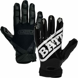 New Other Battle Gloves Football Double Threat Ultra Sticky Palm Adt XL NO $25.04