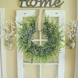 Wreath Plant Foliage Topiary Wall Window Artificial Country Decoration C $21.91