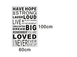 Inspirational Wall Decals QuotesWord Wall Sticker QuotesWall Decal $29.99