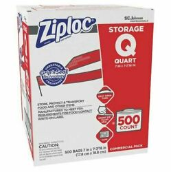 Ziploc Resealable Quart Bags Commercial Pack 500Ct Double Zipper FREE SHIPPING
