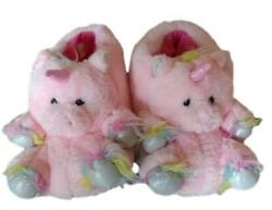 Little Girls Boutique Pink Fuzzy Unicorn Slippers Size 13 1 Good Condition $11.00