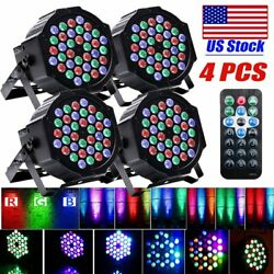 72W 36 LED Par RGB Stage Light DMX Strobe Lamp Party DJ Home w Remote 4PCS $69.99