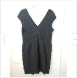 Scarlett Nite Women#x27;s Dress Fit amp; Flare Sleeveless Lace Layer Cocktail Party 14 $19.21