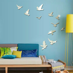 DIY Removable Home 3D Mirror Wall Stickers Decal Art Vinyl Room Decor Birds Fun $6.89