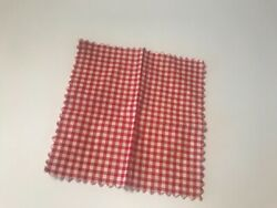 Vintage Tammy Doll Picnic Party Red Checked Picnic Blanket $15.99