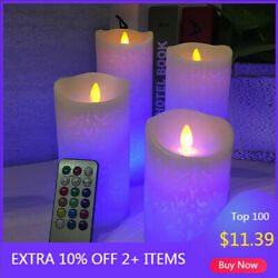 LED Flameless Candles Pillar with Remote Timer Luminara Flickering Moving Wick $13.29