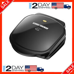 2 Serving Classic Plate Electric Indoor Grill and Panini Press B $26.96