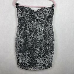 Adrianna Papell Strapless Dress Gray Semi Formal Party Cocktail Size 12 $21.84
