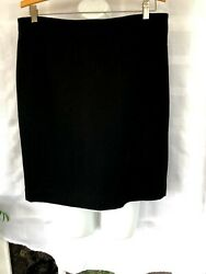NWT J.CREW Women's Pencil Skirt Black size 12 $15.99