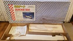 NOS CMP Quickie 500 Rc Plane airplane wood kit 50quot; wingspan $125.00