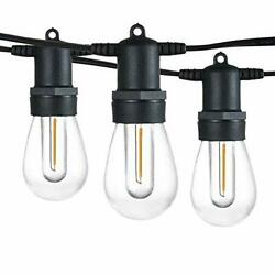 102FT Dimmable LED Outdoor String Lights 34 Hanging Sockets with 35 x Shatterp $125.04