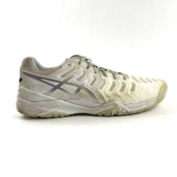 ASICS Gel Resolution 7 Mens Size 12 Tennis Shoes White Lace Up Sneakers E701Y $59.99