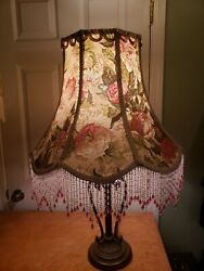 Victorian French Ex Large Floor Table Lamp Shade quot;English Gardenquot; $249.00