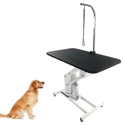 43quot; Hydraulic Dog Cat Pet Grooming Table Tray Folding Adjustable Arm Noose Mesh $259.99