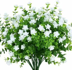 Artificial Flowers Fake Outdoor UV Resistant Boxwood Plants Shrubs Decor 4 Pack $10.99