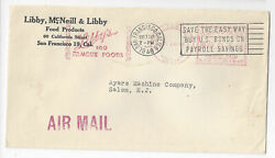 1946 Commercial Cover Libby Foods Advertising Meter Slogan Cancel San Francisco