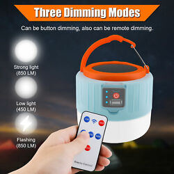 280W Solar LED Bulb USB Rechargeable Tent Lantern Emergency Camping Hiking Lamp $15.97