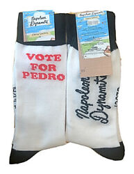 New Mens NAPOLEON DYNAMITE Novelty Socks One Size 'VOTE FOR PEDRO' $6.99