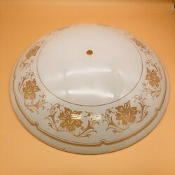 """Vintage Round Ceiling Glass Shade 15"""" For Flush Mount Fixture $15.00"""