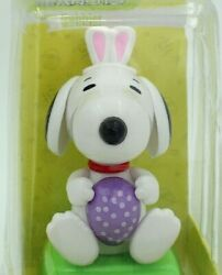 Peanuts Snoopy With Bunny Ears Solar Bobbler Purple Easter Egg Magic Power 2017 $15.89