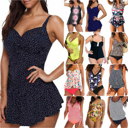 Women#x27;s Ladies Padded Tankini Bikini Set Swimsuit Swimwear Summer Bathing Suit $16.90