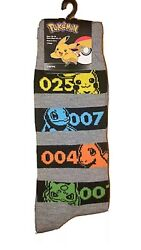 New POKEMON Mens Novelty Crew Socks With PIKACHU Size 10 13 $5.99