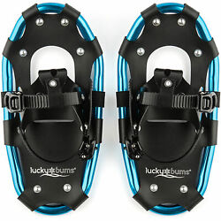 Lucky Bums 14 Inch Youth Hiking Snow Play Snowshoes for Kids Ages 6 to 12 Blue $59.99