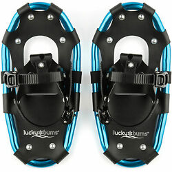 Lucky Bums 19 Inch Youth Hiking Snow Play Snowshoes for Kids Ages 6 to 12 Blue $69.99