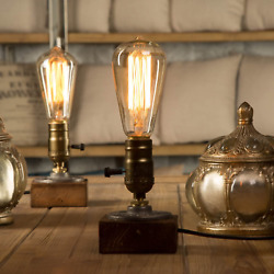 YUANKANG Edison Desk Lamp Retro Industrial Steampunk Table Lamp Small Cool Rusti $24.99
