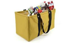Dream Power Gold Collapsible Wire Frame Utility Basket Reusable Shopping Tote $32.99