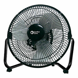 Comfort Zone 9 Inch 3 Speed Portable High Velocity Air Cooling Floor Fan Black $20.99