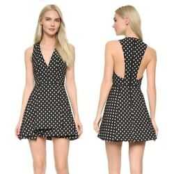ALICE OLIVIA Tanner V Neck Fit Flare Dress Sleeveless Cocktail Women#x27;s size 4 $69.99