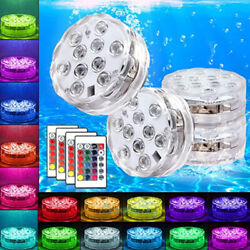 4x Waterproof Underwater Led Lights w Remote for Swimming Pool Fountain Hot tube $24.91