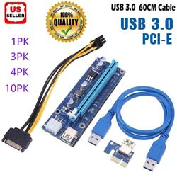 Ethereum PCI E 1x to 16x Powered USB3.0 GPU Riser Extender Adapter Card VER 009s $34.00