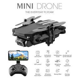 Mini Drone Selfie WIFI FPV With Dual HD 4K Camera Foldable Arm RC Quadcopter US $48.99