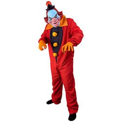Men#x27;s Scooby Doo Ghost Clown Adult Halloween Costume Jumpsuit Gloves Face Mask $72.95