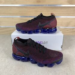 Nike Air Vapormax Flyknit 2 Black Team Red Blue Shoes 942842 006 Size 8.5 $233.99