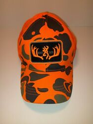 Browning Firearms Orange Camo Hat