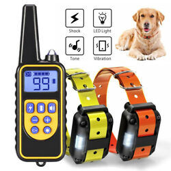 Dog Training Collar Rechargeable Remote Shock Control Waterproof range 875 Yards $30.99