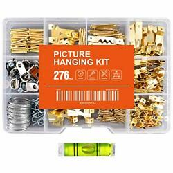 276pcs Picture Hanging Kit Picture Hanger Assortment with Picture Hooks Wire $13.09