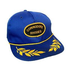 Vintage 90s Rhodes Commodore Laurel Leaves Rope Snap Back Hat $11.99