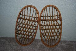 Lund U.S. Snowshoes Bear Paw Style WWII 1942 Matching Serial # 10 1 2quot; x 21quot; $135.00