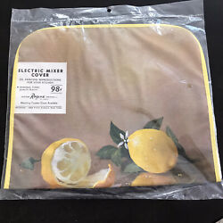 VINTAGE KITCHEN ELECTRIC MIXER COVER LEMONS MINT IN PACKAGE $14.95
