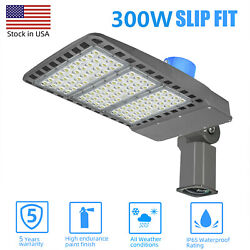 300WLED Shoebox Parking Lot Light Outdoor Street Area Commercial Lights 36000lm
