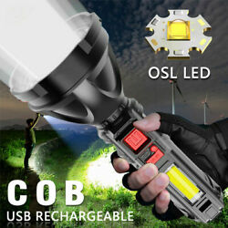 1000000LM LED Rechargeable Tactical Flashlight Light Super Bright Torch Lanterns $11.99