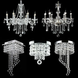 Modern Chandelier Crystal Glass LED Ceiling Light Fixture Pendant Hanging Lamp $60.99