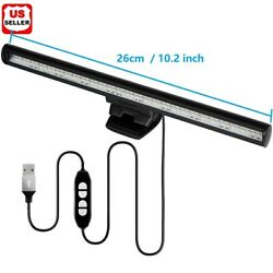 LED Screen Bar Light USB Computer Monitor Eye Caring Reading Desk Lamp Dimmable $15.98